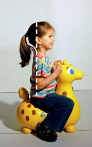 Cavalcabile gonfiabile Giraffa Gyffy